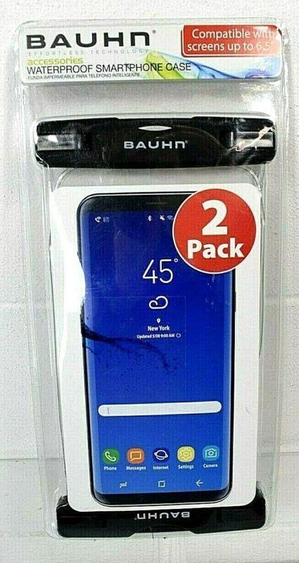 Bauhn Universal Waterproof Smartphone Case 2 Pack Screens up to 6.5