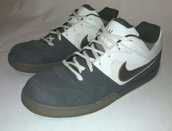 Nike NYX Air Contra Mens 14 Athletic Shoes White / Gray Dunk Skateboarding Casual wild