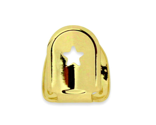 Open Face Single Tooth Cap Custom Fit 14k Gold Plated Grillz Hip Hop w//Mold