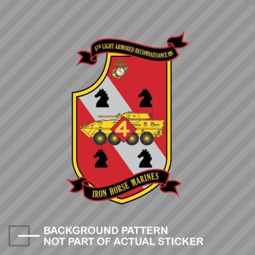4th Light Armored Reconnaissance Battallion USMC Marine Sticker Marines Corp