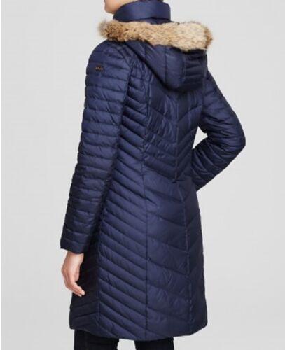 Marc Kendall Women New Taglia Puffer S York Chevron Fur Coat Trim rrxZwAatq