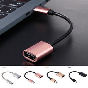 Metall-USB-C-3-1-TypC-Stecker-auf-Buchse-OTG-Daten-Sync-Converter-Adapter-Kabel