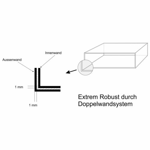 3er Premium Edelstahl Briefkasten Anlage für Außen Wand Design 1x3 Postkasten