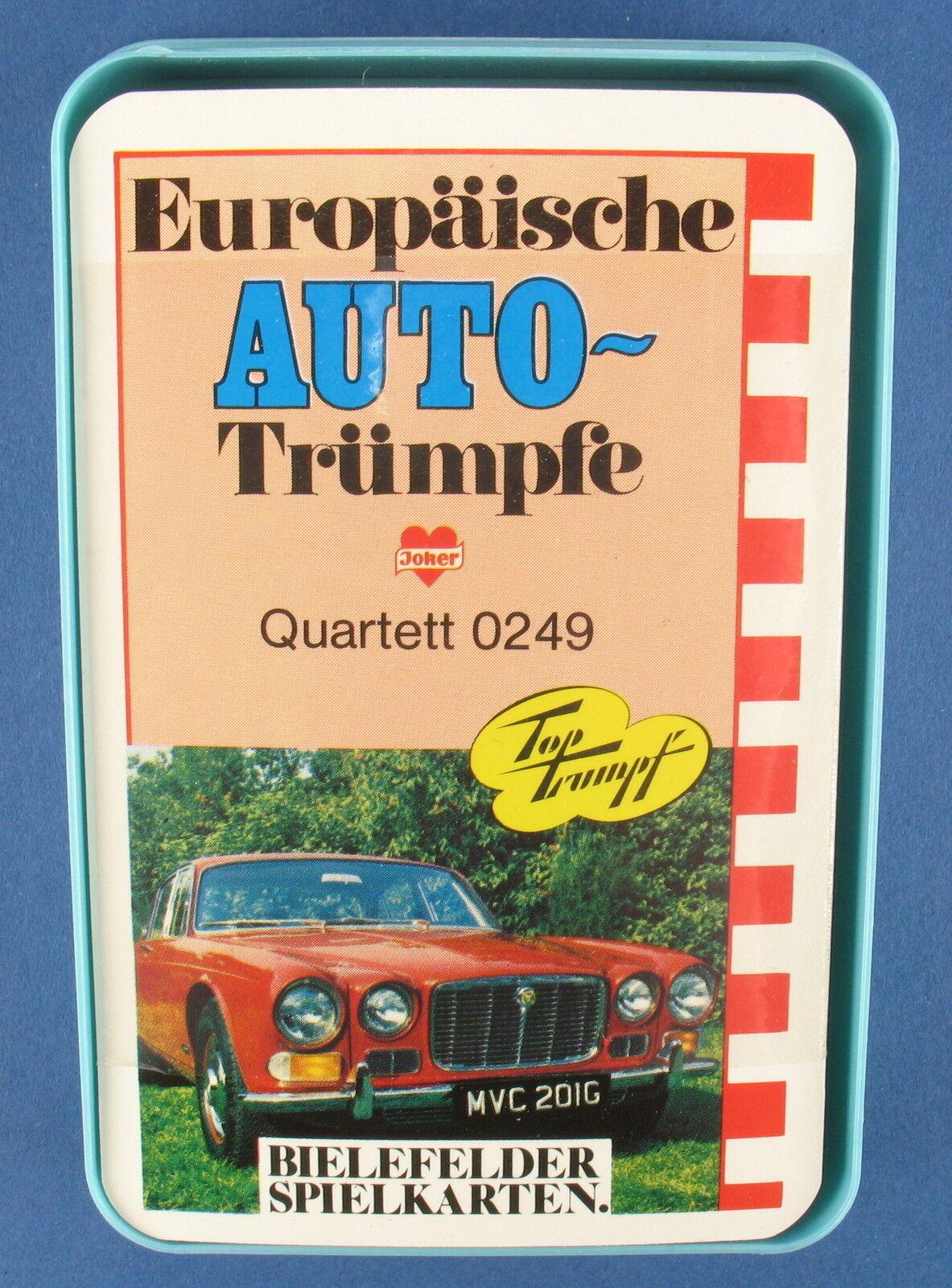 Quartet-European voiture-Trumps-BIELEFELD-NO 0249-nouveau in  Foil  en bonne santé