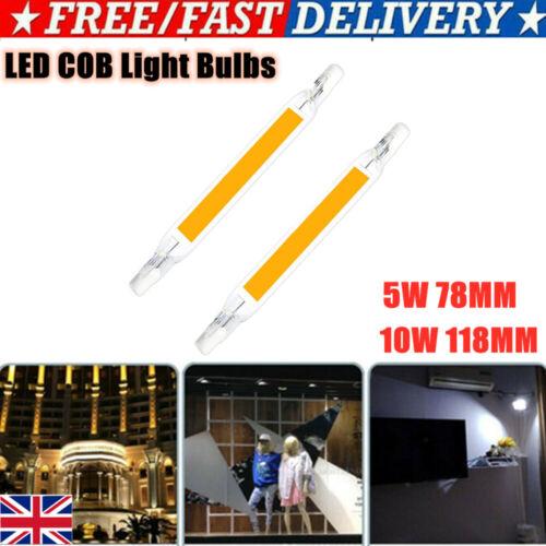 2Pcs 110V 230V R7S LED COB Light Bulbs Security Replace Halogen Lamp 78mm 118mm