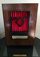 Black Lodge Edition Antique Radio-Style Bluetooth Speaker with Line-In