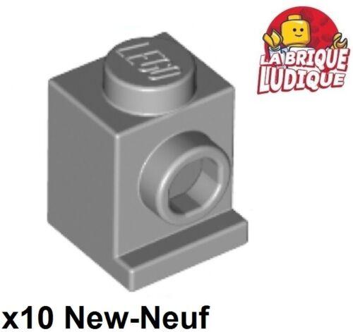 Lego 10x Brique Brick Modified 1x1 Headlight phare gris//light b gray 4070 NEUF