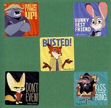 15 Zootopia Large Stickers - Chief Bogo,Judy Hopps, Nick Wilde, Finnick, Mr Big
