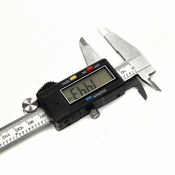 Hard 6 inch 150mm Electronic Digital LCD Steel Vernier Caliper Micrometer