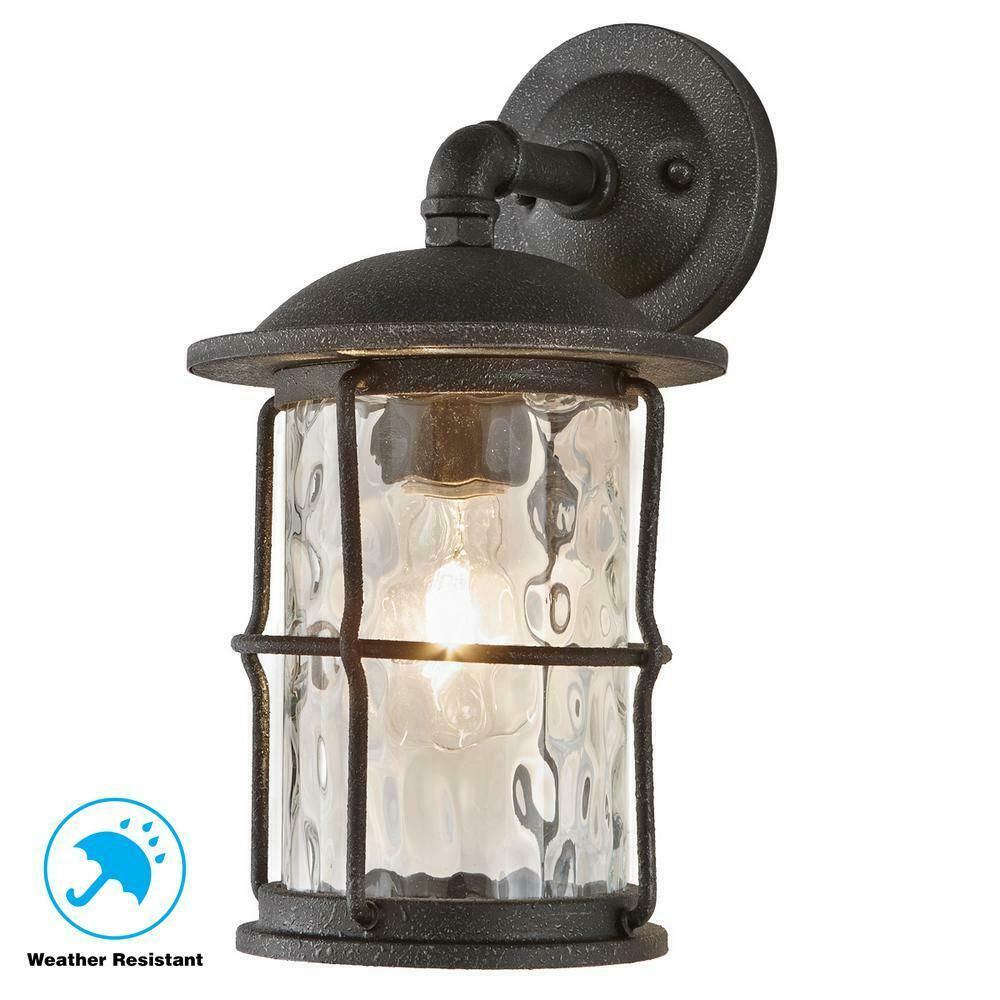 Home Decorators Collection 1 Light Gilded Iron Outdoor Wall Mount Lantern For Sale Online Ebay