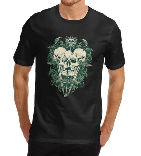 Twisted Envy Men/'s The Devil Inside Skull Printed T-Shirt