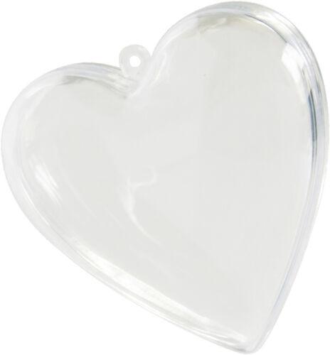 8cm zum befüllen Hochzeit 24 Stück Verlobung Tischdeko Deko Herz transparent ca