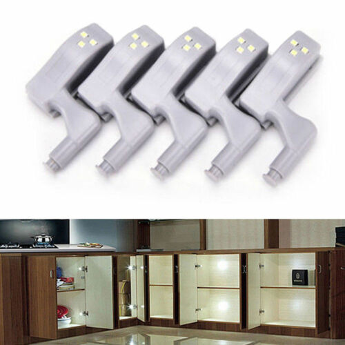 Cupboard Closet Wardrobe Door Inner Hinge LED Sensor Light For Kitchen Cabinet T