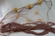 Authentic Fishing Net, Fish Netting Display, Rope Starfish Nautical  10 x 8