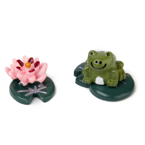 3pcs Resin Landscape Painting Frog Decor Miniature Dollhouse Bonsai Craft