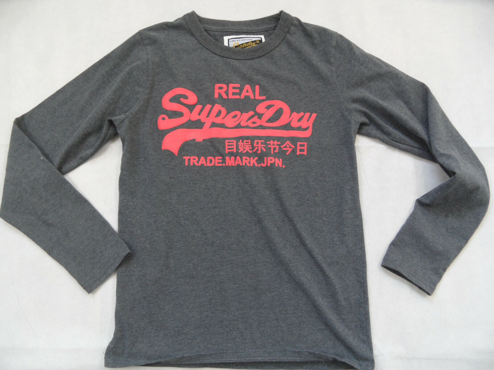 SUPERDRY limited edition cooles Sweatshirt grey Gr. M TOP 219
