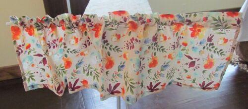 Pioneer Woman *Willow* Kitchen Valance Curtain Handmade Tablecloth Flea Market