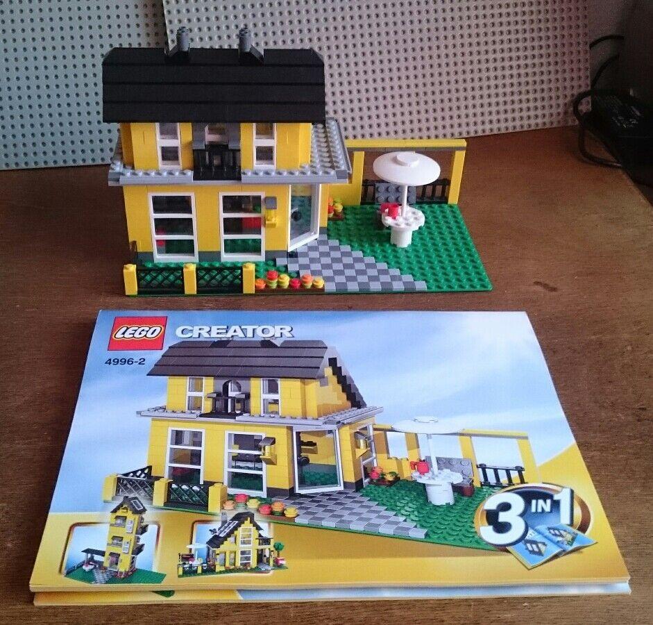 LEGO 4996 Creator Ferienhaus gelb Modell 2 mit 3 Bauanleitungen für 3 Modelle  2