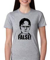 The Office dwight Schrute False Womens T-shirt Jr. Size
