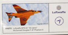 "Herpa 1:200  -  Luftwaffe WTD 61  ""50 Jahre"" F-4F Phantom II   -     555272"