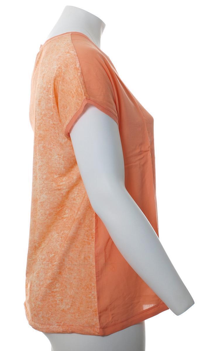 No Secret Damen T-Shirt Orange mit mit mit Brusttasche große Größen | Bevorzugtes Material  | Kaufen Sie online  98cdfd