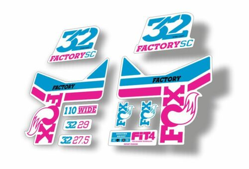 FOX 32 Step Cast SC Forks Suspension Factory Decal Stickers Adhesive Purple Blue