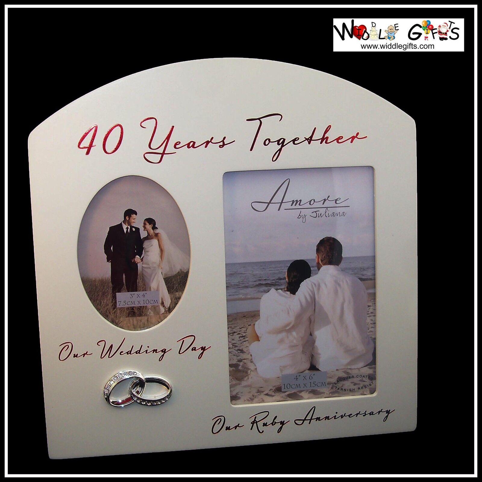 40. Jahrestag 40 Jahre zusammen Rubin Fotorahmen | eBay