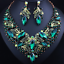 Fashion-Women-Pendant-Crystal-Choker-Chunky-Statement-Chain-Bib-Necklace-Jewelry thumbnail 56