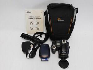 Nikon Coolpix 5700 Digital Camera 5.0MP 8x Zoom & Bag Manual Power Cable SD Card