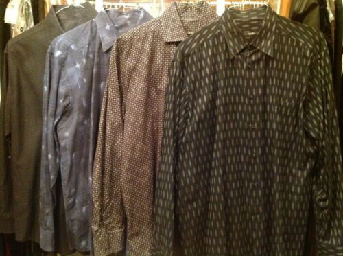 Lot of 4 Men's  Zanella Dress shirts XL