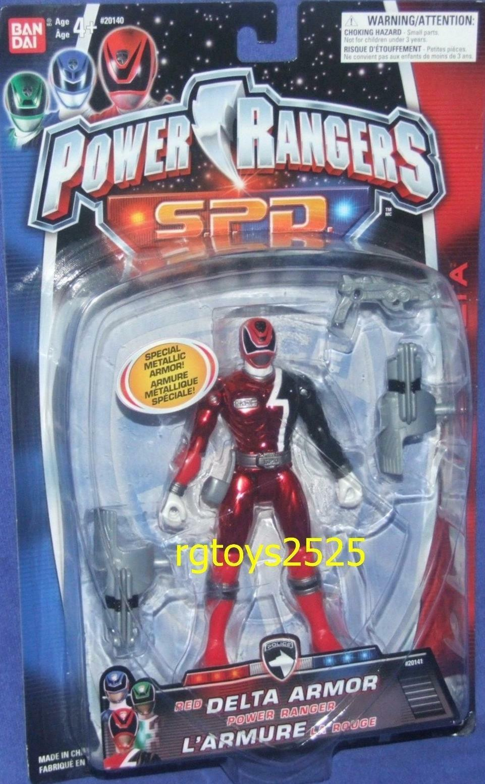 Power Rangers SPD Special Metallic Red Delta Armor Ranger New 5   Factory Sealed