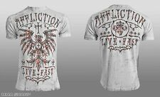 Affliction Men's Blackbird Tee Shirt White Medium