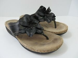c3221203efd75e Image is loading Clarks-Artisan-Latin-Samba-Sandals-With-Flower-Black-