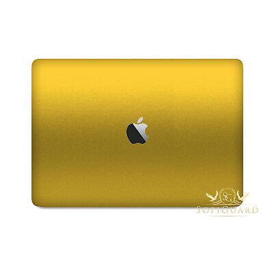 SopiGuard Brushed Gold Full Body Vinyl Skin for Apple Macbook Pro 13 Retina