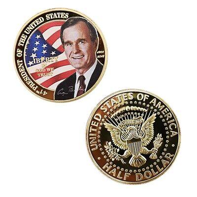 Us 41th President George Herbert Walker Bush Commemorative