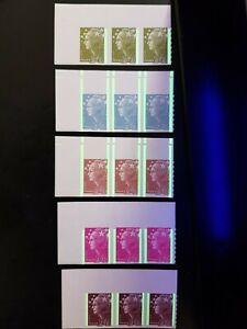 3-Lots-Variete-phosphore-MARIANNE-BEAUJARD-Adhesifs-PRO-2009-Bloc-BDF