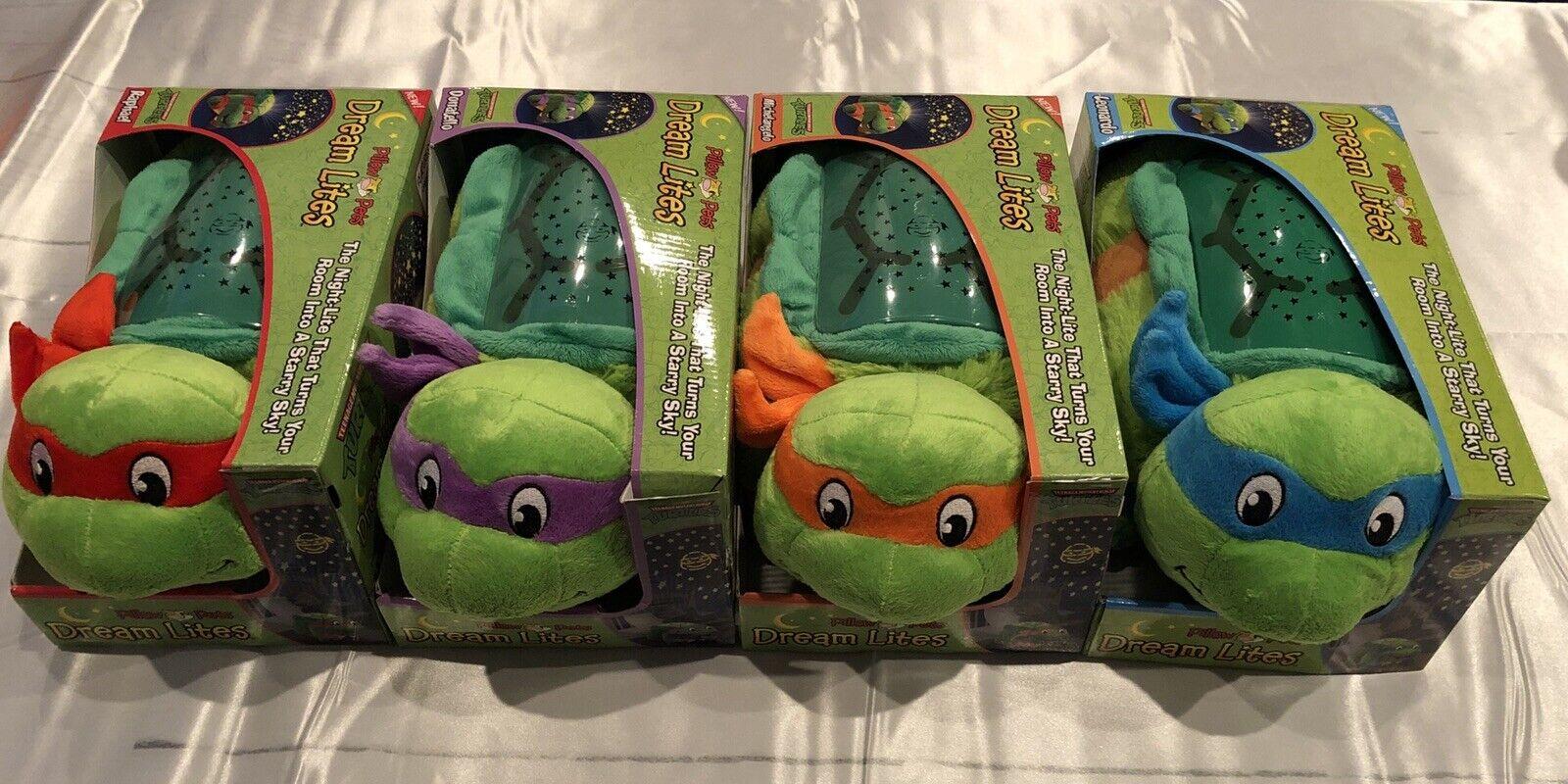 Teenage Mutant Ninja Turtles Dream Lites Pillow Pets Set Of 4 RARE BRAND NEW