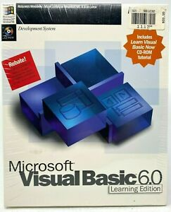 Microsoft-Visual-Basic-6-0-Standard-Learning-Edition-6-0-CD-ROM-Factory-Sealed