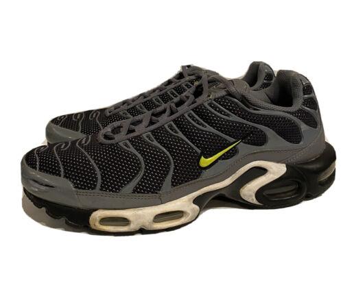 Nike Air Max Plus Tn Cool Grey Black Volt Mens Siz