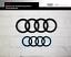 Original Ringe Set schwarz vorne und hinten im Set ab 2019 Audi Q8