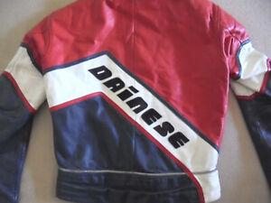 vintage italy DAINESE Motorradjacke Bikerjacke Lederjacke racing oldschool 48 S