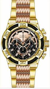7864dabd3c5 Invicta Bolt Chronograph Black Rose Gold Dial Two Tone Men s Watch ...