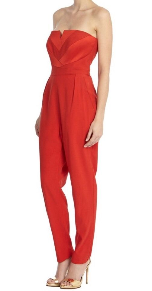 BNWT Coast Size 6 Castana Red Strapless Jumpsuit Playsuit All In One Party
