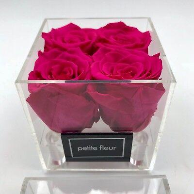 Exklusive Acryl Box Rosenbox Mit Konservierten Rosen