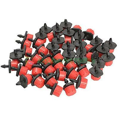 """50pcs Micro Drip Irrigation Watering Anti-clogging Emitter Drippers on 1/4"""" Barb"""