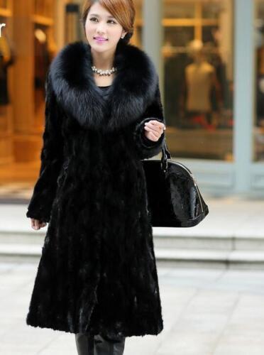 Womens Fur Hooded Long Coat Jacket Outdoor Thicken Parka Winter Casual Sbox1