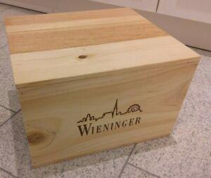 1x 6er Weinkiste Holzkiste M Deckel Ohk Weingut Wieninger österreich Landhaus Ebay