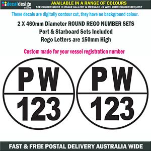 Round-Boat-Rego-Stickers-150mm-Port-amp-Starboard-Registration-Vinyl-Decal-Set