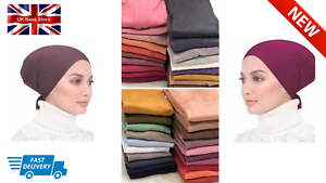 Stiff-Front-Tie-Back-Under-Scarf-Cap-Inner-Hijab-Lovely-Stretchy-Jersey