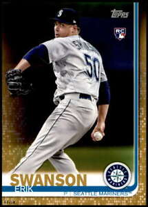 Erik Swanson 2019 Topps Update 5x7 Gold #US97 RC /10 Mariners